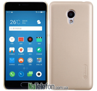 Пластиковый чехол NILLKIN Super Frosted Shield Meizu M3/M3 mini/M3s Gold