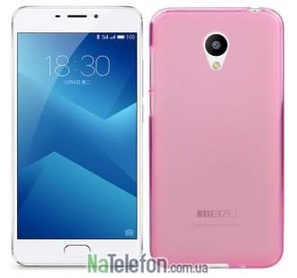 Чехол Original Silicone Case для Meizu M5 Note Pink