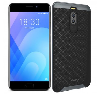 Накладка iPaky (OR) Carbon TPU + Bumper for Meizu M6 Note Grey