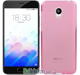 Чехол Original Silicone Case для Meizu M3 Pink