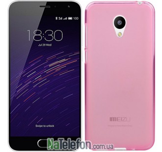 Чехол Original Silicone Case для Meizu M2 Pink