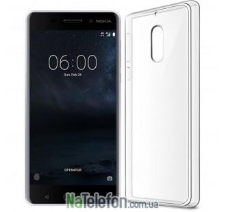 Ультра тонкий силиконовый чехол Remax 0.2 mm для Nokia 6 White
