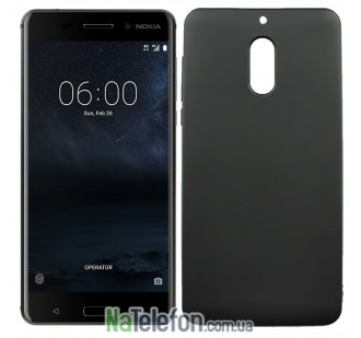 Силиконовый чехол Original Silicon Case Nokia 6 Black