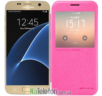 Чехол NILLKIN Sparkle series для Samsung G930F Galaxy S7 Pink