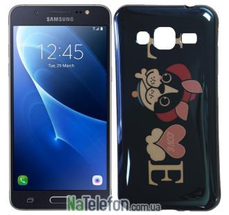 Чехол U-Like Picture series для Samsung J300/J320 Love Balck
