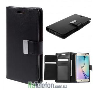 Чехол Goospery Rich Diary Wallet для Samsung A320 Black