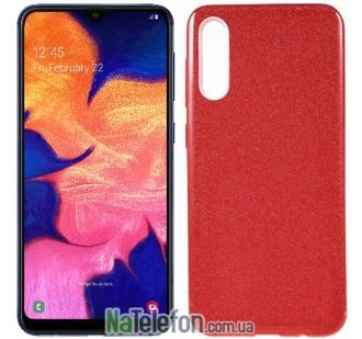 Чехол Silicone 3in1 Блёстки для Samsung A505 Galaxy A50 Red
