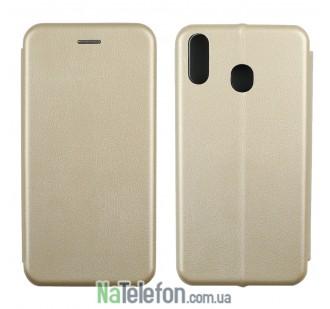 Чехол книжка U-Like Best для Samsung M205 Galaxy M20 Gold