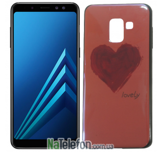 Чехол U-Like Picture series для Samsung A730 (A8 Plus 2018) Heart Pink