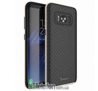Накладка iPaky (OR) Carbon TPU + Bumper for Samsung G955 Galaxy S8 Plus Gold