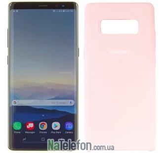 Чехол силиконовый оригинальный для Samsung N950 (Note 8) Розовый