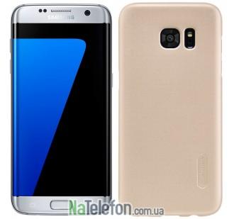 Пластиковый чехол NILLKIN Super Frosted Shield Samsung G930 Galaxy S7 Gold