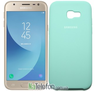 Чехол Original Soft Case для Samsung A320 (A3-2017) Светло голубой