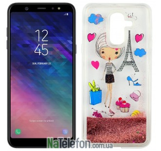 Чехол U-Like Aqua для Samsung A6 Plus 2018 (A605) Lady