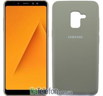 Чехол Original Soft Case для Samsung A8 plus 2018 (A730) Пепельно серый
