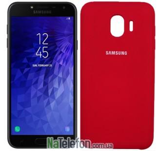 Чехол Original Soft Case для Samsung J4 2018 Вишневый