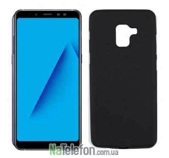 Чехол Original Silicone Case для Samsung A730 (A8 Plus-2018) Black