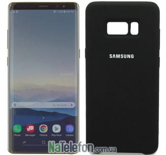 Чехол силиконовый оригинальный для Samsung N950 (Note 8) Чёрный