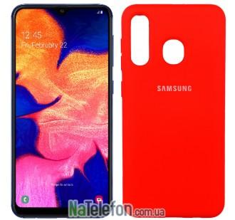 Чехол Original Soft Case для Samsung A20 2019 Красный