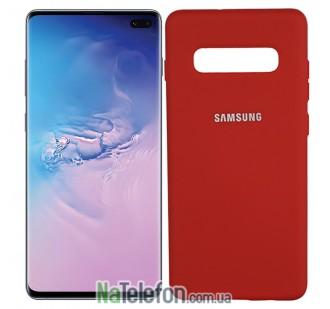 Чехол Original Soft Case для Samsung G975 Galaxy S10 Plus Красный FULL
