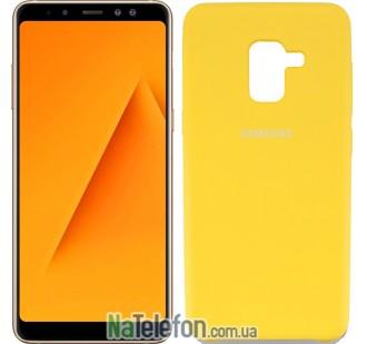 Чехол Original Soft Case для Samsung A8 plus 2018 (A730) Золотой