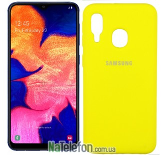 Чехол Original Soft Case для Samsung A40 2019 Желтый FULL