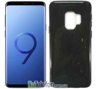 Силиконовый чехол Silicone 3in1 Блёстки для Samsung G960 Galaxy S9 Black