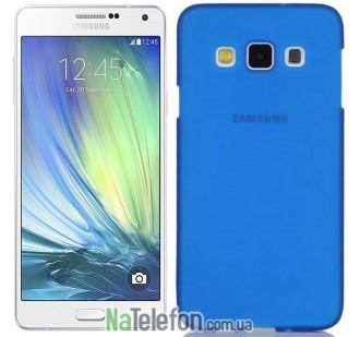 Ультра тонкий силиконовый чехол Remax 0.2 mm для Samsung A700 (A7) Blue