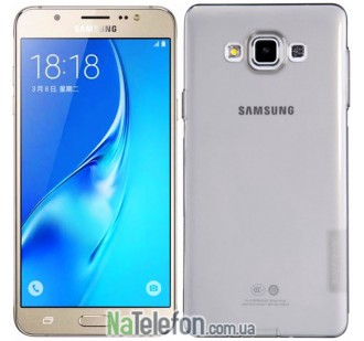 Чехол силиконовый прозрачный NILLKIN Nature TPU Samsung A700H / A700F Galaxy A7 Grey