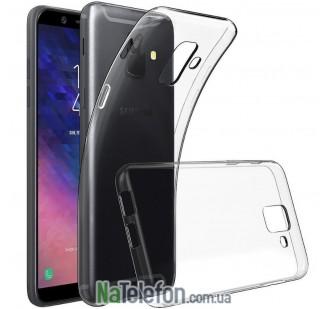 Ультра тонкий силиконовый чехол 0.3 mm для Samsung A600 Galaxy A6 2018 White