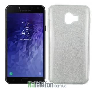 Чехол Silicone 3in1 Блёстки для Samsung J400 White