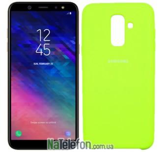 Чехол силиконовый оригинальный Samsung A605 Galaxy A6 Plus 2018 Лимонный