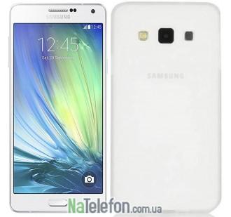 Ультра тонкий силиконовый чехол 0.3 mm для Samsung A700/A7 White