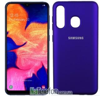 Чехол Original Soft Case для Samsung A30 2019 Фиолетовый FULL