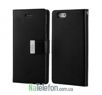 Чехол Goospery Rich Diary Wallet Case для Samsung A520 Black