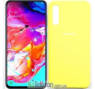 Чехол Original Soft Case для Samsung A70 2019 Желтый