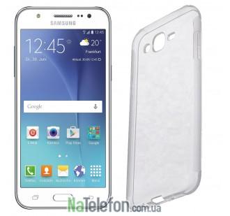 Силиконовый чехол Remax Air Series для Samsung J700 (J7) Silver