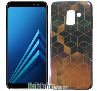 Чехол U-Like Picture series для Samsung A730 (A8 Plus 2018) Cube