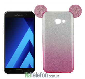 Чехол Mickey TPU Case с блестками для Samsung A5 (2017) A520