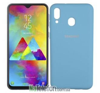 Чехол Original Soft Case для Samsung M205 Galaxy M20 Ярко синий FULL