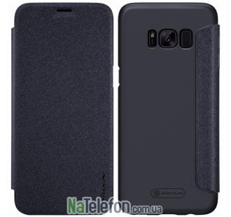 Чехол книжка NILLKIN Sparkle series Samsung G955 Galaxy S8 Plus Black