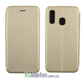 Чехол книжка U-Like Best для Samsung A405 Galaxy A40 2019 Gold
