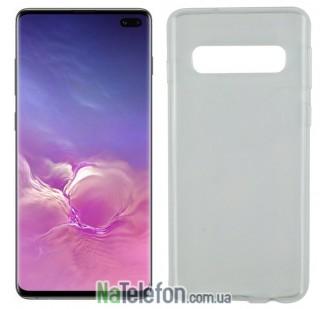 Ультра тонкий силиконовый чехол 0.3 mm для Samsung G975 Galaxy S10 Plus White