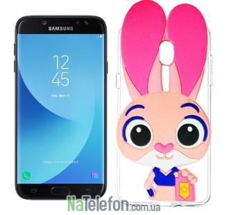Силиконовый чехол Зверополис Rabbit Samsung J730 (J7-2017)