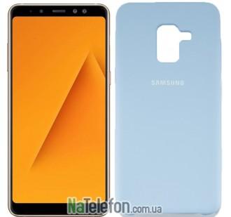 Чехол Original Soft Case для Samsung A8 2018 (A530) Светло голубой