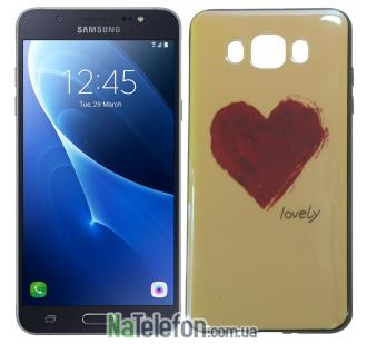 Чехол U-Like Picture series для Samsung J510 (J5 2016) Heart Blue