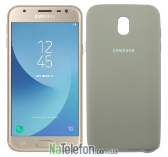 Чехол Original Soft Case для Samsung J330 (J3-2017) Пепельно серый