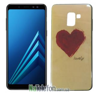 Чехол U-Like Picture series для Samsung A730 (A8 Plus 2018) Heart Blue