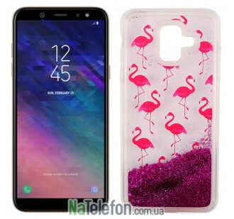 Чехол U-Like Aqua Case для Samsung A6 2018 (A600) Flamingo