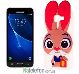 Силиконовый чехол Зверополис Rabbit Samsung A320 (A3-2017)